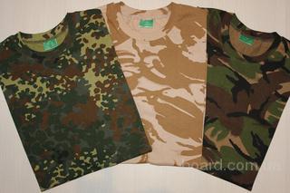 Новые камуфляжные футболки Секонд ОПТ