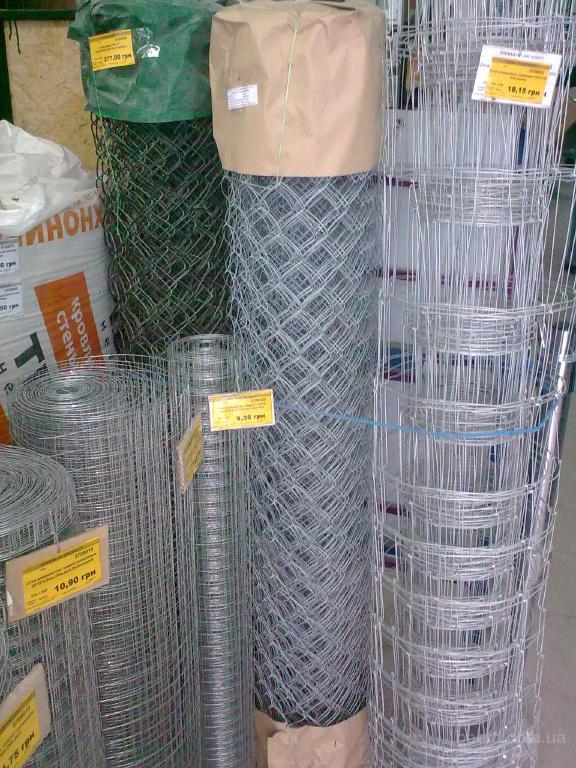 Сетка рабица ПВХ, 2,8мм*60мм*1,5м*10м. (15м²/рул)