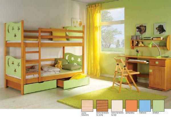Акция! кровать двухъярусная Jarek + матрасы + ящики