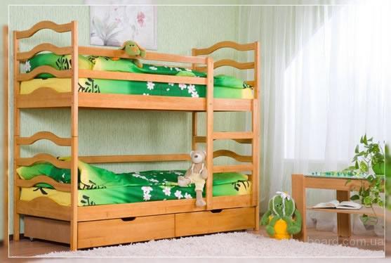 Акция! кровать двухъярусная София + матрасы + ящики