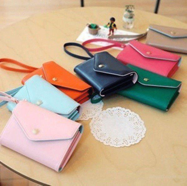 Кошелек + чехол для телефона iPhone 4/4S, 5/5S яркие цвета портмоне клатч Samsung Galaxy S2, S3
