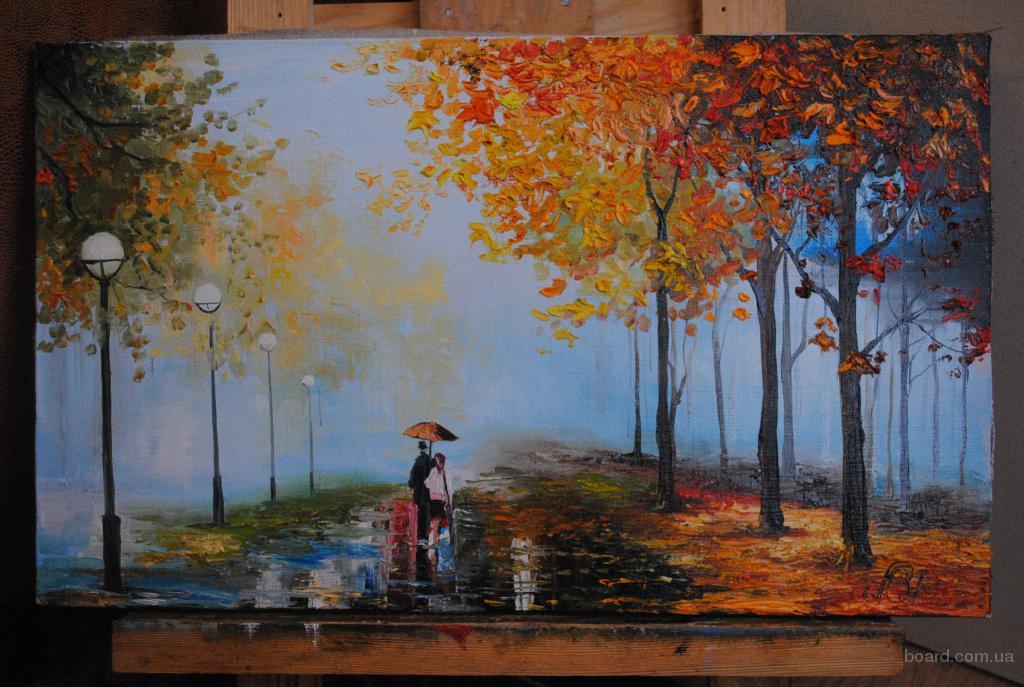 """картина """" В осеннем парке"""""""