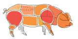 Сало бокове, хребтовое, тримминги, грудина, шкура, фарши куриные.