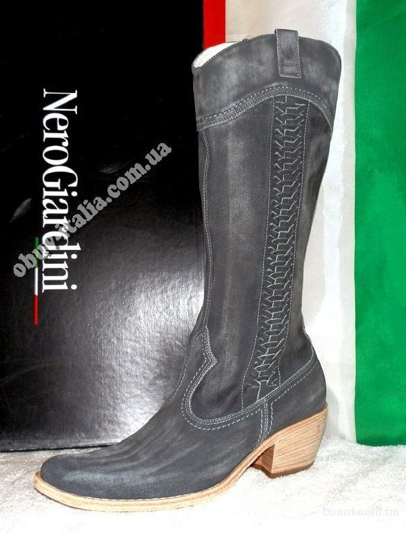 Сапоги женские кожаные фирмы Nero Giardini п-о Италия