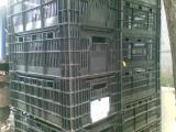 Тара. Ящик черный, перфорированный для овощей, рыбы, мяса, хранения.