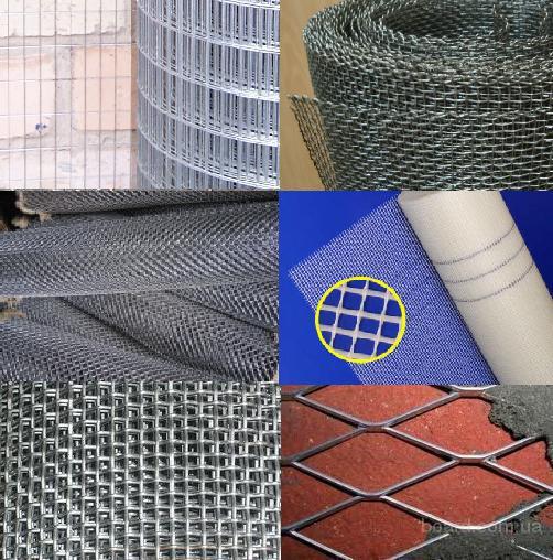 Сетка штукатурная  для строительства, ремонта, реконструкции с доставкой на объект -  Армирования, Тканая, Для отсечки бетона, Сварная черная и оцинк.