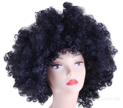 Черный карнавальный парик Ангела или Отелло