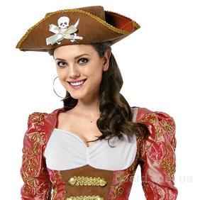 Шляпа Пиратки с черепом