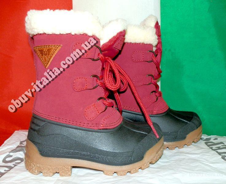Сапоги-Сноубутсы детские кожаные зимние Docksteps оригинал Италия