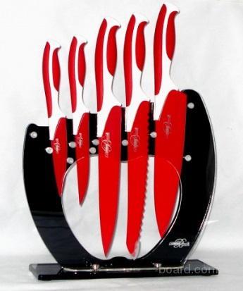 Набор титановых ножей BS-9006 + Подарок Точилка
