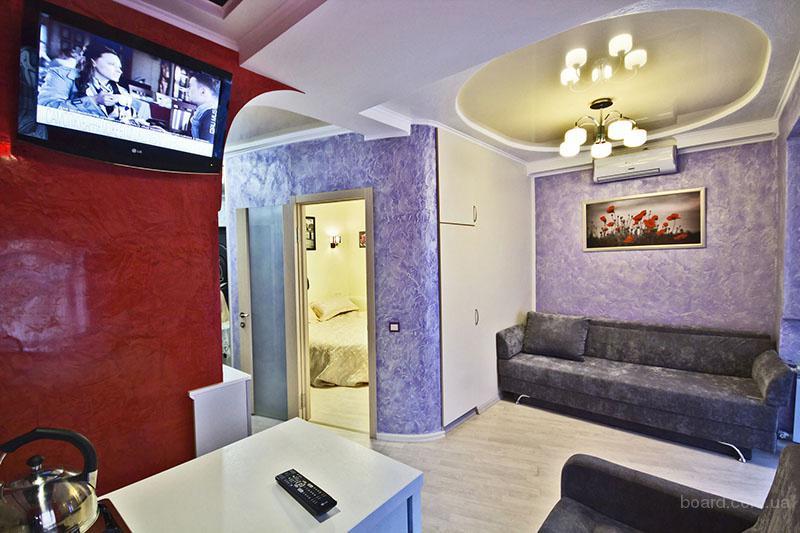 Аренда двухкомнатной квартиры посуточно в центре Харьков