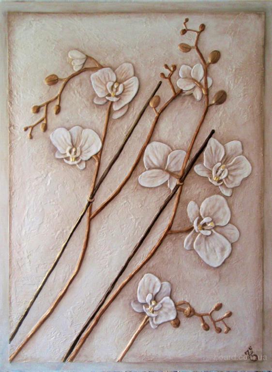Барельеф орхидея своими руками