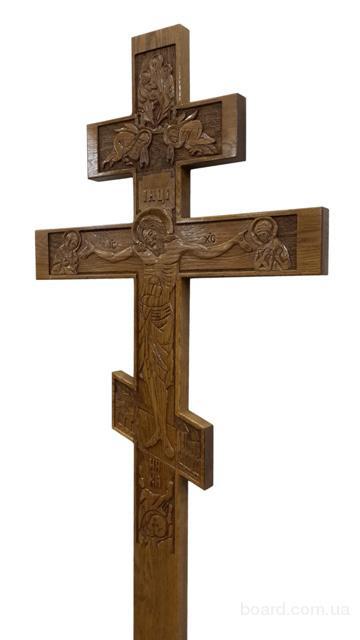 крест дубовый с распятием