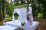 Прока свадебных товаров, арка на свадьбу, оформление свадьбы цветами и тканями