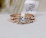 Романтическое двойное! кольцо