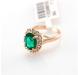 Кольцо с зеленым цирконием