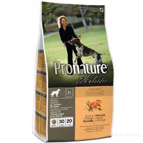 Pronature Holistic Adult All breed no Grain (Пронатюр Холистик) корм для собак Без Злаков с уткой и апельсинами