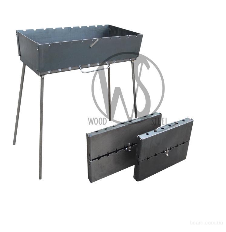 Мангал-чемодан из черного металла