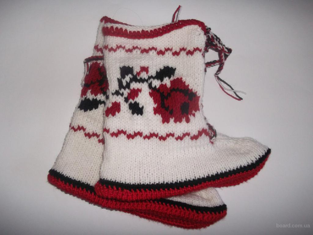 Вязаные угги носки тапки для дома