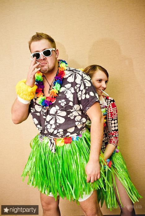 гавайские бусы из цветов, гавайские леи