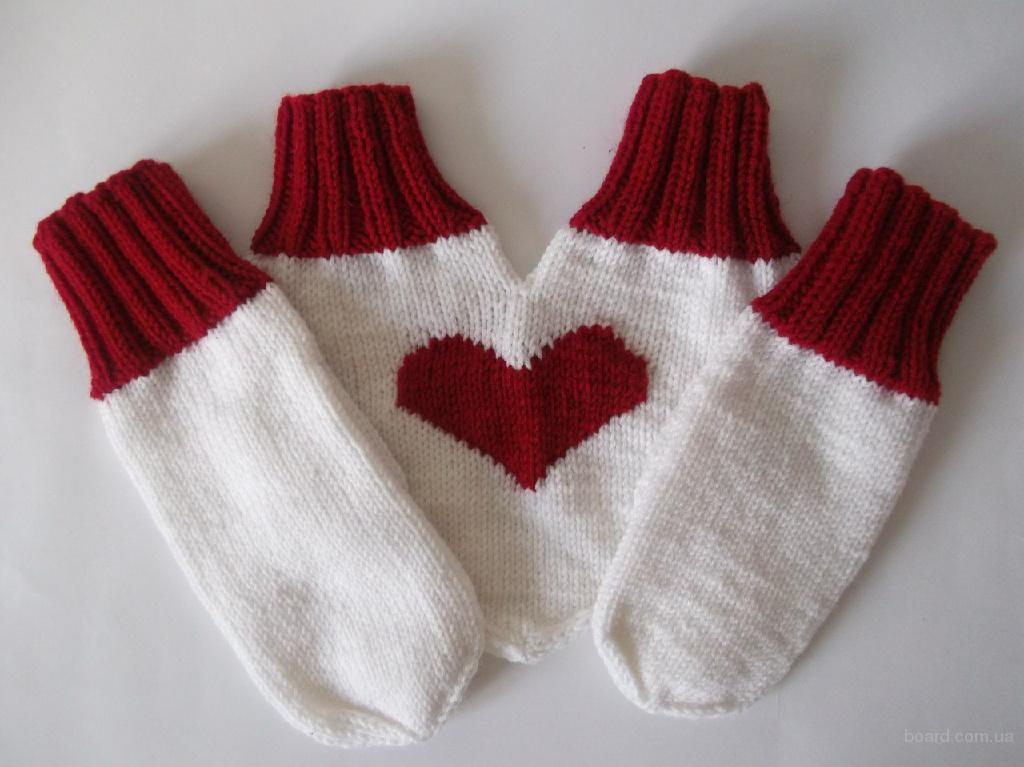 Варежки для двоих Сердце