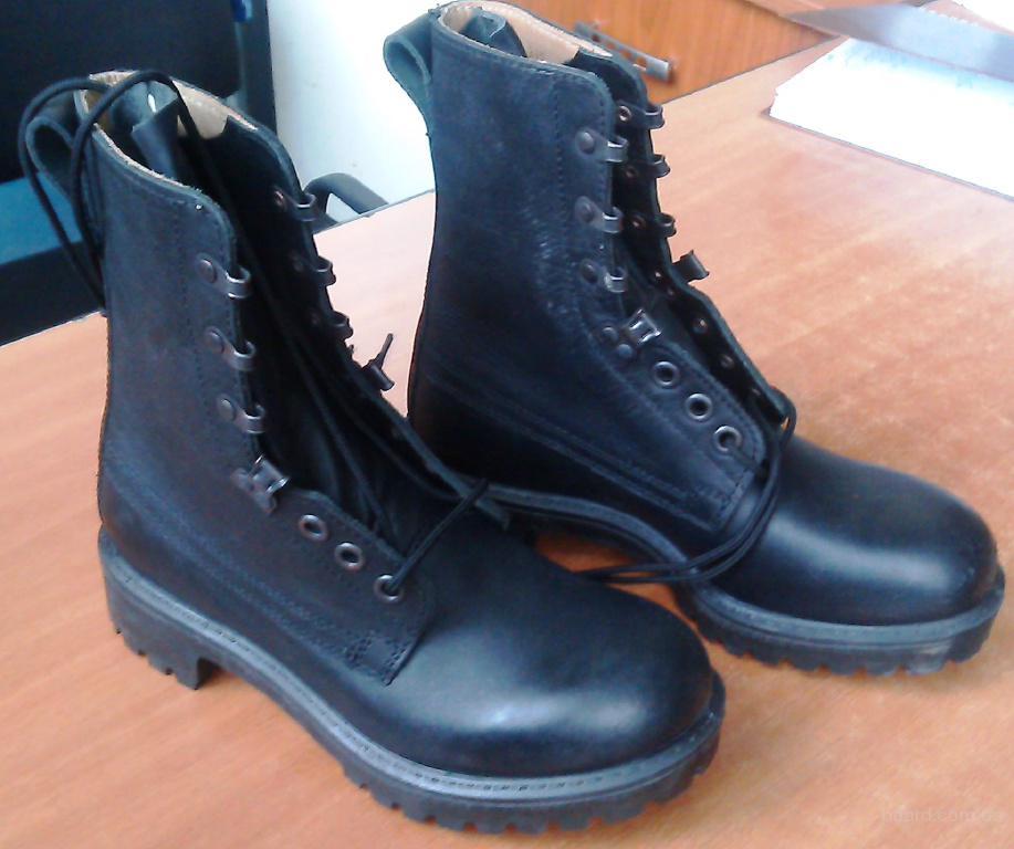 Военные Английские чёрные берцы. Обувь контрактников