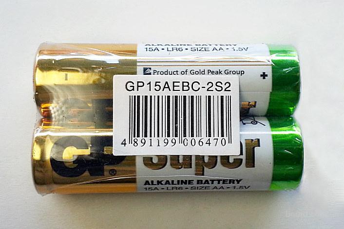 "Батарейка 15A-S2 LR6 AA Super Alkaline (пальчик) ""GP"""