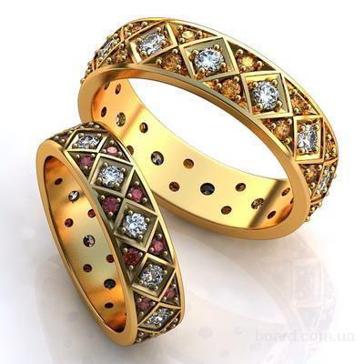 Обручальные парные кольца на заказ в Москве