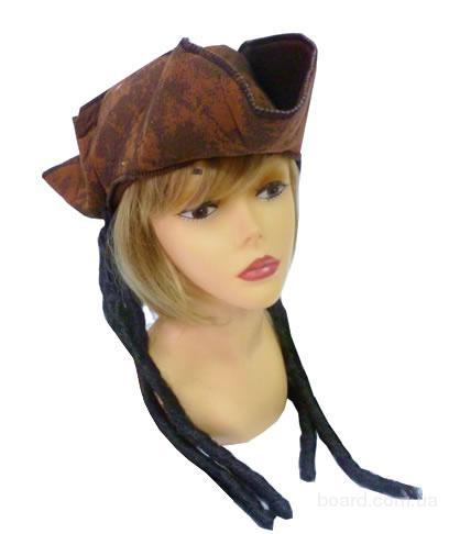 Шляпа для Пиратки Карибского моря с длинными волосами плюс Повязка на глаз в подарок