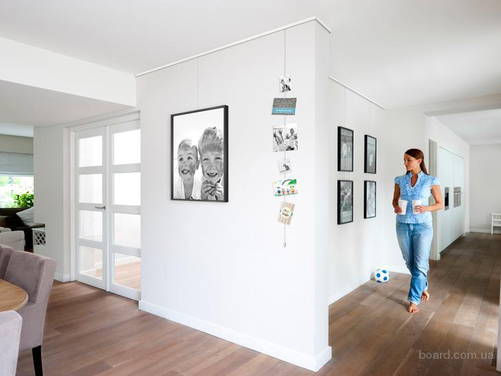 Система підвісної галерейної(тросової) підвіски картин, рам, фоторам, постерів