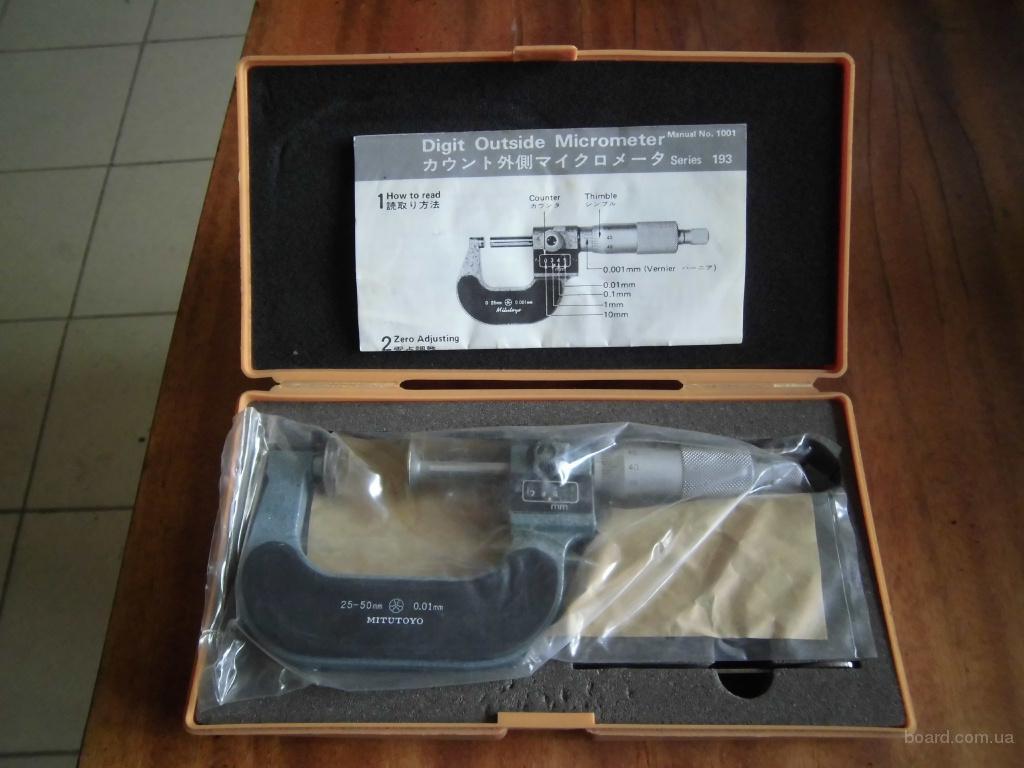 Цифровий мікрометр Mitutoyo 25-50 (Японія)