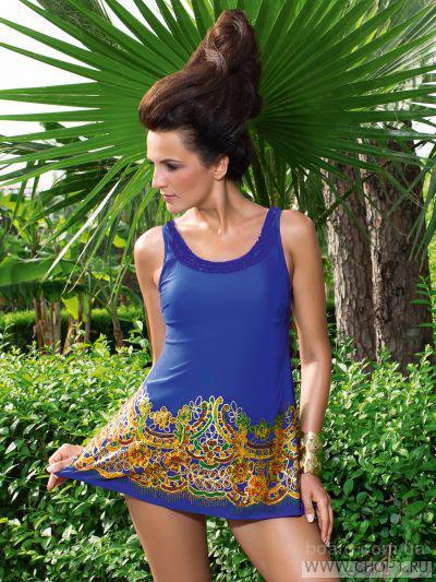 Итальянский утягивающий купальник-платье для полных  женщин  WPBQ081405 Merletti  ТМ Charmante