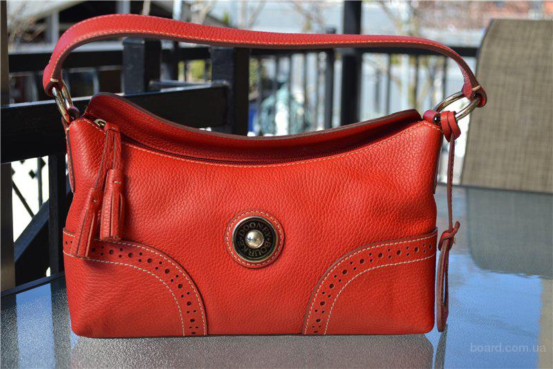 Сумка Dooney and Bourke Red Leather Satchel Б/У , оригинал