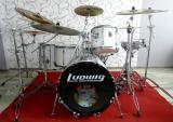 Аренда прокат белых барабанов киев Ludwig Киев