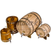 Продам бочки дубовые (все виды, полный ассортимент) от 3 до 80 л.