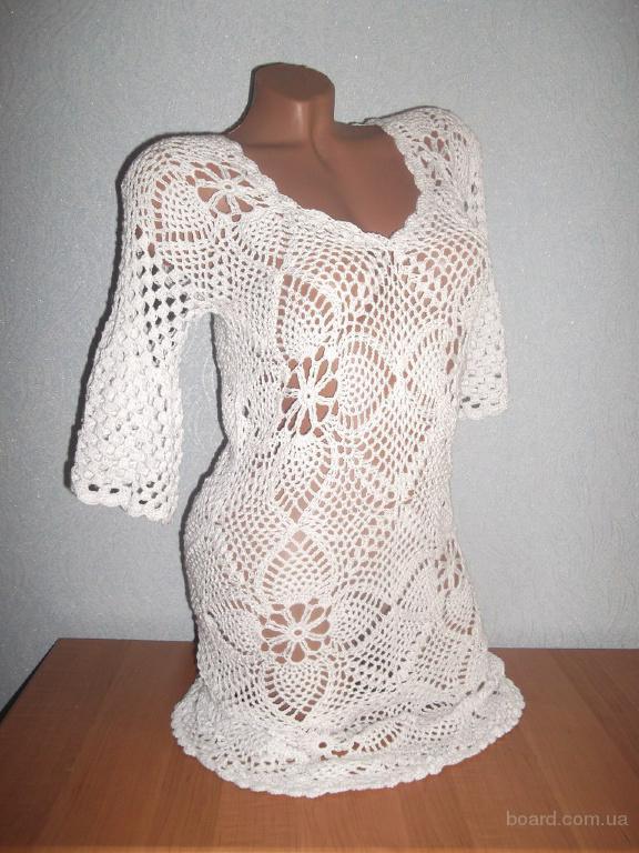 Вязаное летнее платье Романтика