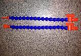 """Трубки шарнирные 1/4"""" для подачи охлаждающей жидкости СОЖ (кран+шарниры+плоское сопло) 300мм"""