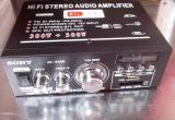 Усилитель звука Sony AK-699D FM, SD CARD,USB, 12 в, 220 в чистый звук