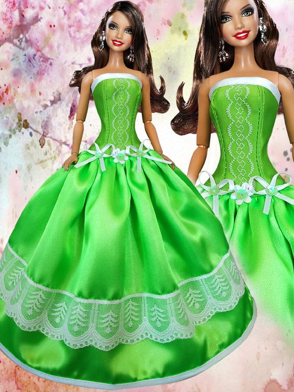 Одежда для кукол Барби - бальные платья.