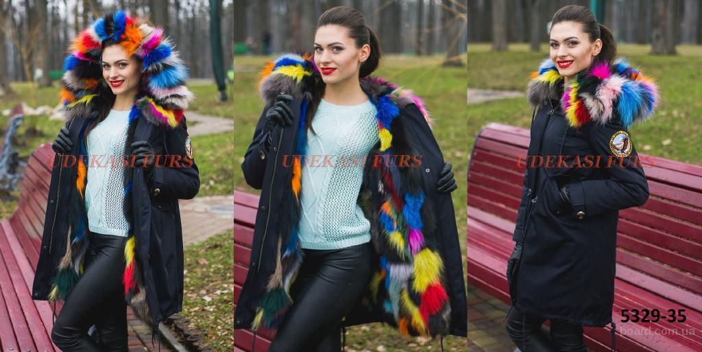 Продам парки женские с мехом лисицы рыжей, песца, чернобурки всех размеров.