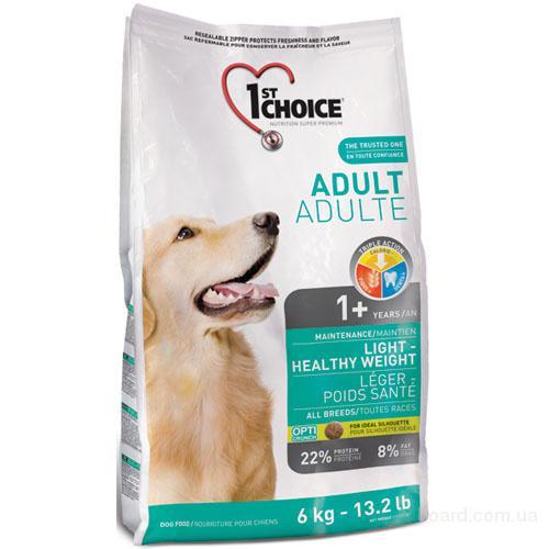 1st Choice (Фест Чойс) малокалорийный сухой супер премиум корм для собак с избыточным весом.