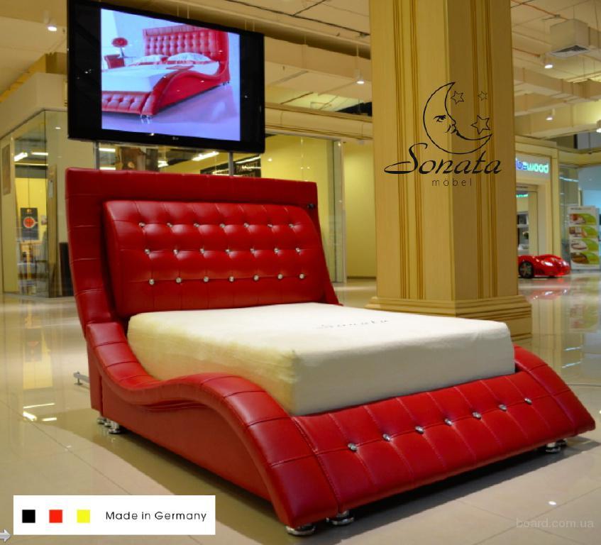Кожаные кровати в сети салонов Sonata Mobel