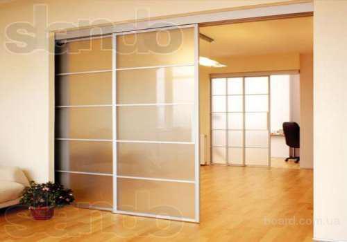 Подвесные двери для гардеробной комнаты, межкомнатной перегородки