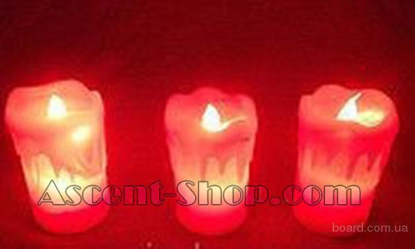 Электронная свеча «Задуй меня» высокая