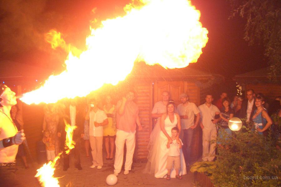 Акция для молодоженов - огненное шоу в подарок