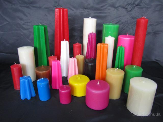 Свечи в ассортименте собственного производства