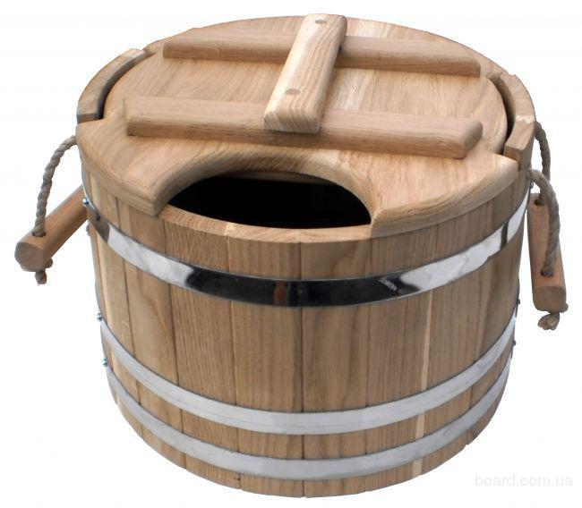 Запарник дуб. с металлической вставкой для сауны или бани