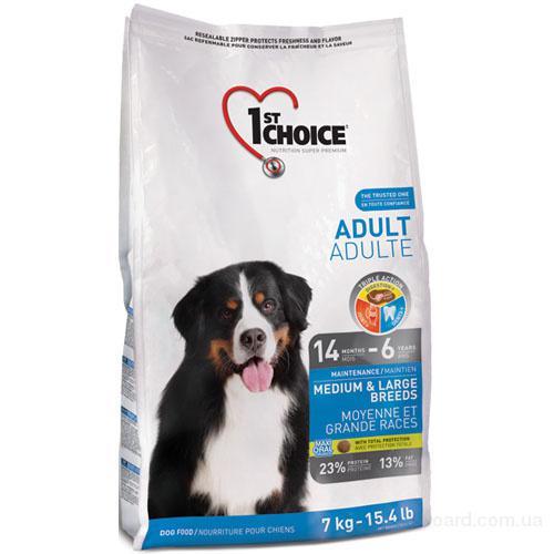 Корм для собак 1st Choice (Фест Чойс) с курицей - сухой супер премиум корм для взрослых собак средних и крупных пород, фасовки по 7 и 15 кг