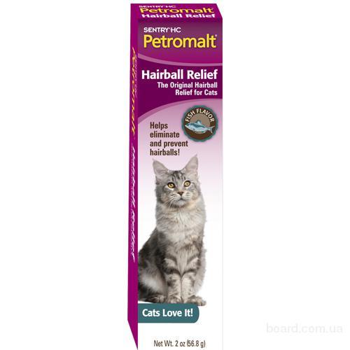 Stntry Petrodex выведение шерсти паста со вкусом рыбы для котов, 56 гр