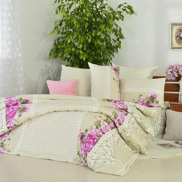 Купить постельное белье Украина, Комплект Пионы горохи